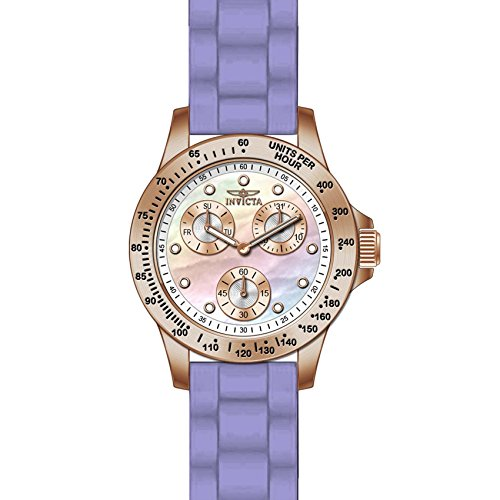 Invicta Speedway Damen Armbanduhr Armband Silikon Rosa Gehaeuse Edelstahl Quarz Zifferblatt Perlmutt 21988