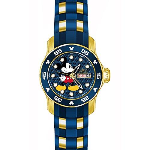 Invicta Disney Armband Kunststoff Blau Gehaeuse Edelstahl Quarz Analog 23771