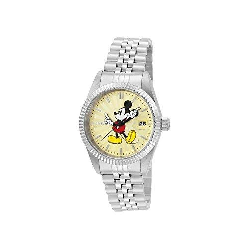 Invicta Disney Armband Edelstahl Gehaeuse Quarz Zifferblatt Champagner Analog 22774