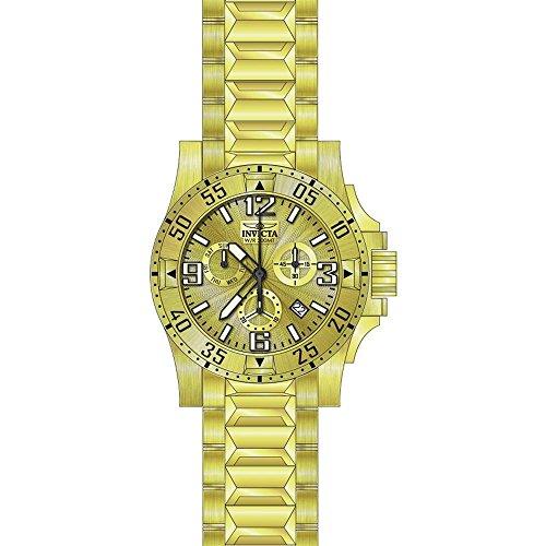 Invicta Excursion Armband Edelstahl Gold Gehaeuse Schweizer Quarz Analog 23902