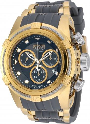 Invicta Herren 53 mm grau PU Band Stahl Fall S Saphir Armbanduhr Swiss Chronograph Quarz 16241