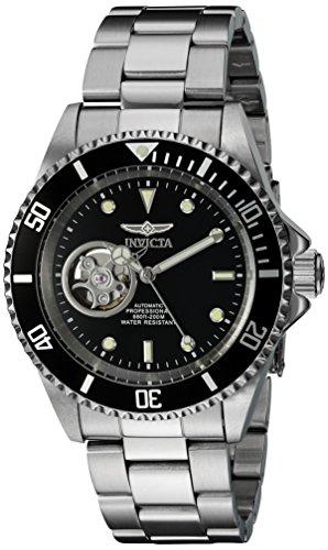 Invicta Pro Diver Herren Armbanduhr Armband Edelstahl Gehaeuse Automatik Zifferblatt Schwarz Analog 20433