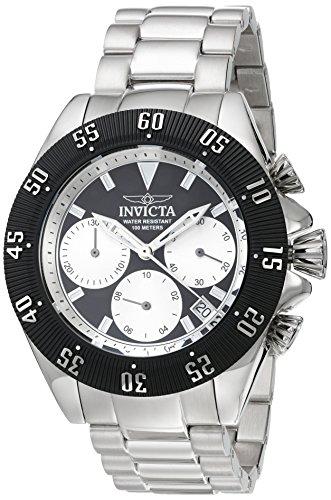 Invicta Speedway Armband Edelstahl Gehaeuse Quarz Zifferblatt Silber Analog 22396