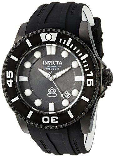 Invicta Pro Diver Herren Armbanduhr Armband Kunststoff Weiss Gehaeuse Edelstahl Automatik Analog 20206