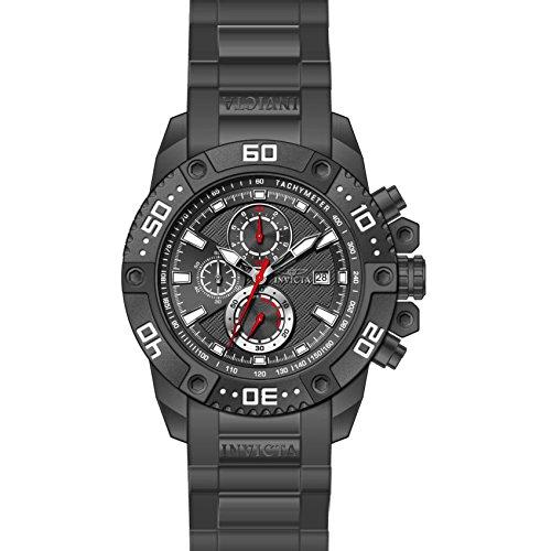 Invicta Pro Diver Armband Kunststoff Grau Gehaeuse Edelstahl Quarz Analog 21777