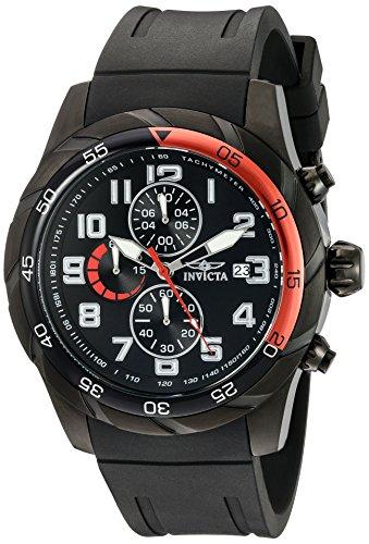 Invicta Pro Diver Armband Kunststoff Schwarz Gehaeuse Edelstahl Quarz Analog 21950