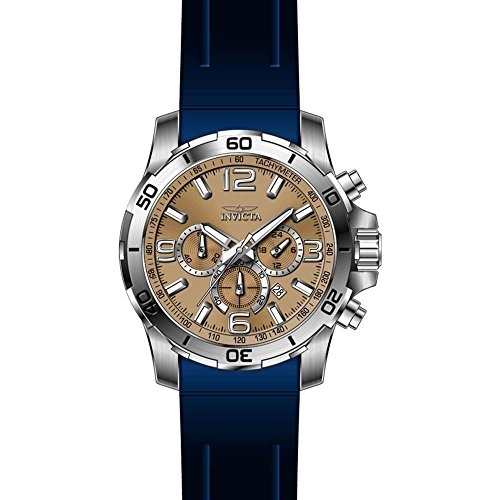 Invicta Pro Diver Armband Kunststoff Blau Gehaeuse Edelstahl Schmelz Flamme Quarz 24006