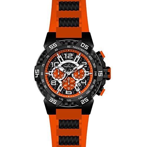 Invicta Speedway Armband Kunststoff Marine Gehaeuse Edelstahl Quarz Analog 24235