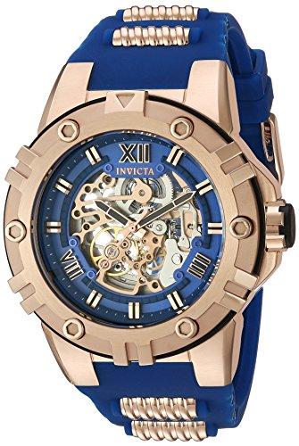 Invicta Pro Diver Herren Armbanduhr Armband Kunststoff Blau Gehaeuse Edelstahl Handaufzug Analog 22552