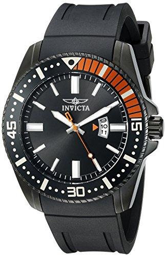 Invicta Pro Diver 48mm Armband Kunststoff Gehaeuse Vergoldetes Edelstahl Quarz 21449