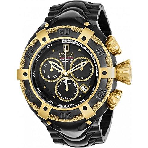Invicta Jason Taylor Herren Armbanduhr 52mm Armband Vergoldetes Edelstahl Schwarz Batterie Analog 22174