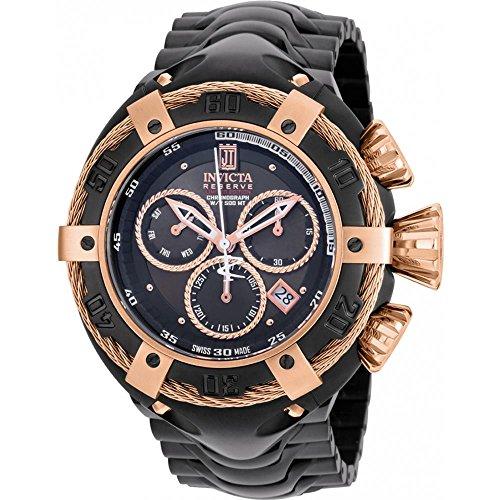Invicta Jason Taylor Herren Armbanduhr 52mm Armband Vergoldetes Edelstahl Schwarz Batterie Analog 22175