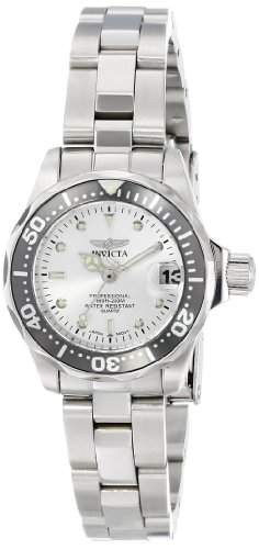 Invicta Damen 24mm Silber Ã‹delstahl Armband & Gehäuse Datum Uhr 14985