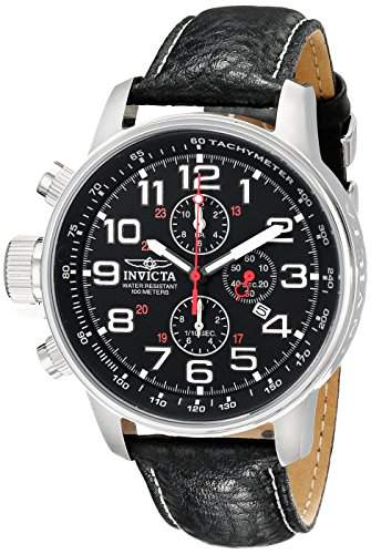 Invicta Herren-Armbanduhr XL Chronograph Quarz Leder 2770