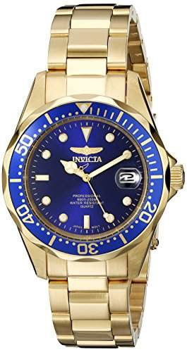 Invicta Mens Pro Diver 23kt Gold plated 8937