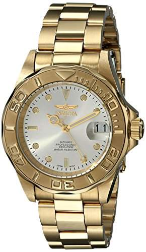 Invicta Unisex-Armbanduhr Analog Automatik Edelstahl beschichtet 9010