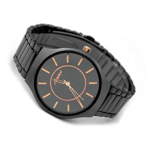 BlingWorld Herren Armbanduhr, Schwarz