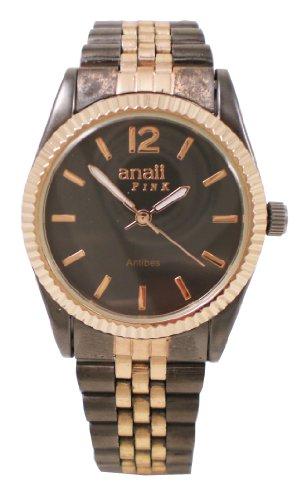 NY London Designer Damenuhr Damen Strass Uhr in Chronograph Optik Silber inkl Geschenkbox Uhrenboc