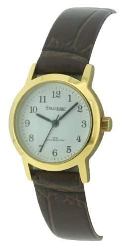 Stratford Damen-Armbanduhr Analog Leder Braun SFD02D