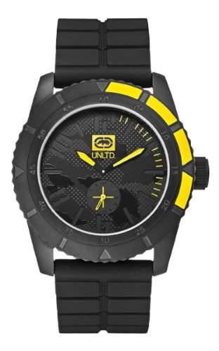 Marc Ecko Unisex-Armbanduhr Analog silikon schwarz E13541G1