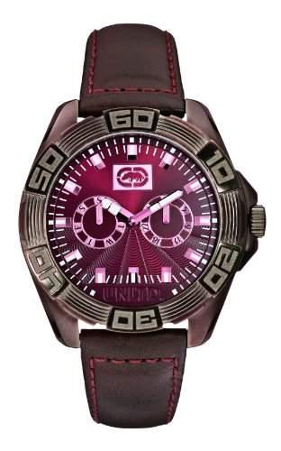Marc Ecko Herren-Armbanduhr Analog Quarz Leder E13561G1