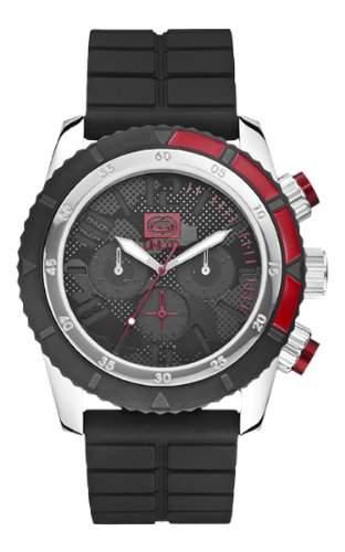 Marc Ecko Unisex-Armbanduhr Analog silikon schwarz E16525G1