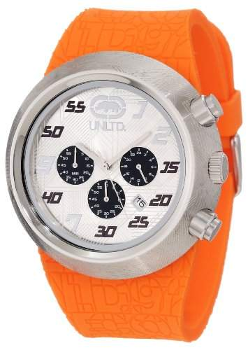 Marc Ecko-E17568G1-The Eero-Armbanduhr-Quarz Chronograph-Weisses Ziffernblatt-Armband Gummi schwarz