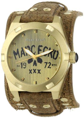 Marc Ecko Herren E13514G2 The Rock Brown Leather Cuff Uhr