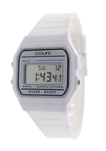Coolife Unisex Armbanduhr Retro Style Watches Digital Quarz Plastik CL2013G902
