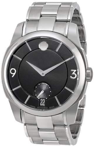 Movado Movado Lx Herren 42mm Silber Edelstahl Armband & Gehaeuse Uhr 606626