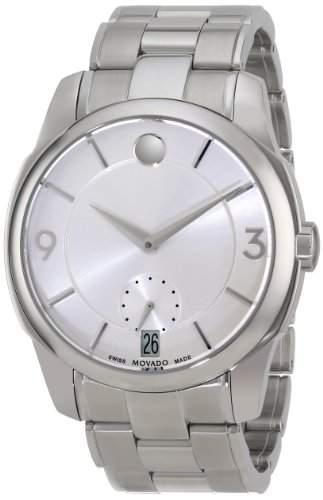 Movado Movado Lx Herren 42mm Silber Edelstahl Armband & Gehaeuse Uhr 606627