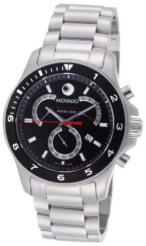 Movado Herren 2600090 Serie 800 Performance-Steel Black Round Zifferblatt