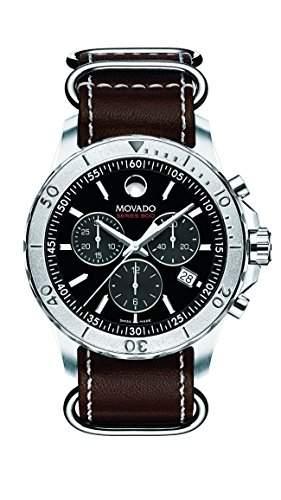Movado Herren-Armbanduhr Chronograph Batterie Datum 2600131