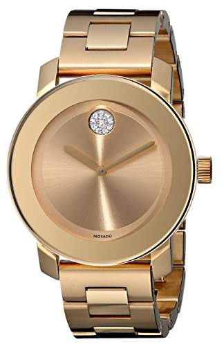Movado Bold Gold Ion Herren Armbanduhr 3600104