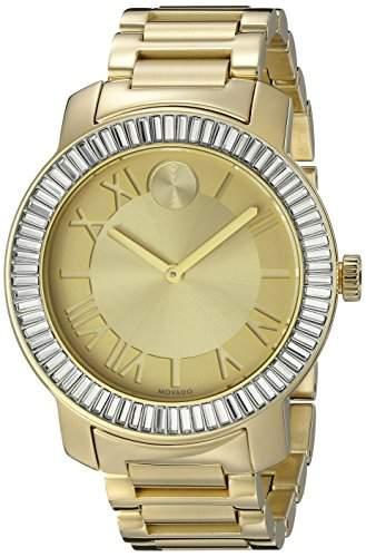 Movado Bold Damen 39mm Gold Edelstahl Armband & Gehaeuse Saphirglas Uhr 3600247