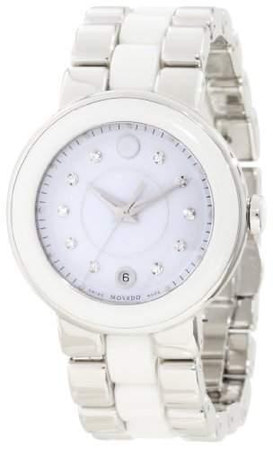Movado Cerena Damen 36mm Multi Color Edelstahl Armband & Gehaeuse Uhr 606540