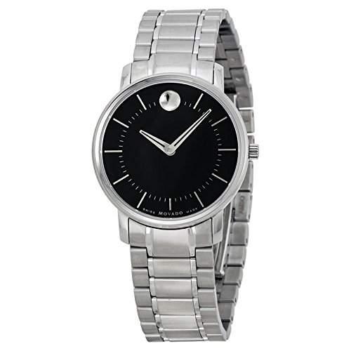 Movado Damen 30mm Silber Edelstahl Armband & Gehaeuse Mineral Glas Uhr 0606690