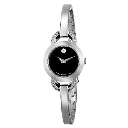 Movado Rondiro Damen 22mm Silber Edelstahl Armband & Gehaeuse Uhr 606798