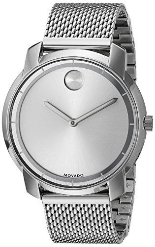 Movado Bold Damen 36mm Silber delstahl Armband Gehaeuse Saphirglas Uhr 3600241
