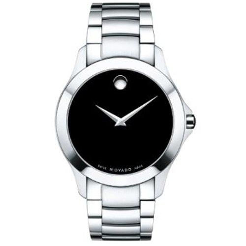 Movado Masino Herren Armbanduhr 40mm Armband Edelstahl Gehaeuse Batterie Zifferblatt Schwarz 0607032