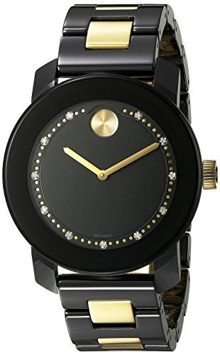Movado Movado Bold Herren Damen 36mm Multi Color Keramik Armband Uhr 3600233