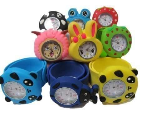 1x kinder Kinder zufaellig auswahl umlegen schnappschuss silikon-armband Mickey, Nemo, Bienen, frosch, panda, haeschen armbanduhren fuer party geschenktaschen von Fett-catz