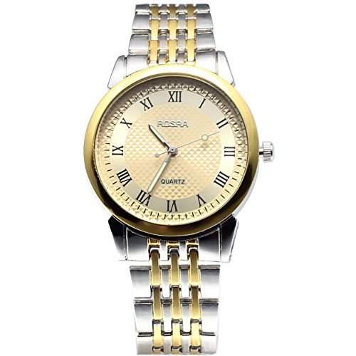 Bei wang Maenner duenne Stahlbandgeschaeft Armbanduhr Goldene Band Goldene Dial