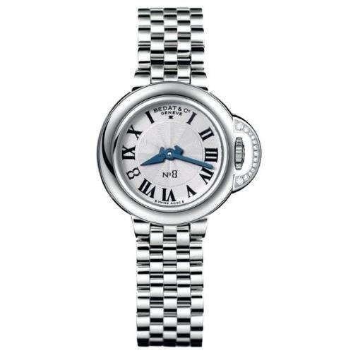 Bedat No 8 Armband Edelstahl Gehaeuse Schweizer Quarz Zifferblatt Silber 827 021 600
