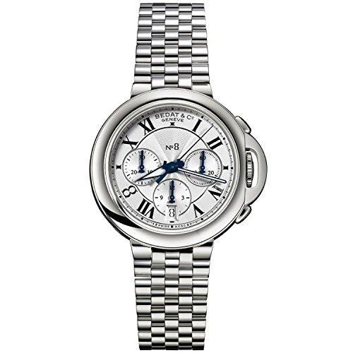 Bedat No 8 42mm Armband Edelstahl Gehaeuse Automatik Zifferblatt Silber 830 011 101