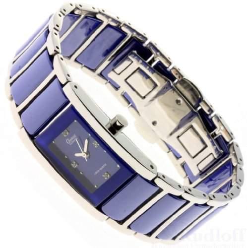 Garde Uhr elegante Damenuhr Keramikuhr steel 13777 blau ceramic ladies watch