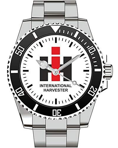 Harvester IH Traktor Trecker Schlepper Classic Emblem Motiv Uhr - Armbanduhr 1378