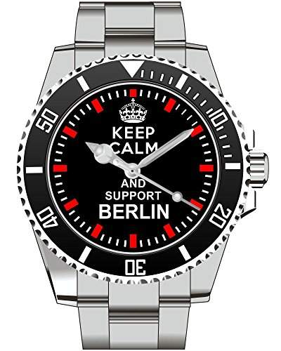 Keep calm and support BERLIN - Armbanduhr - Uhr 1535