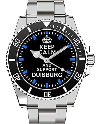 Keep calm and support DUISBURG - Armbanduhr - Uhr 1568