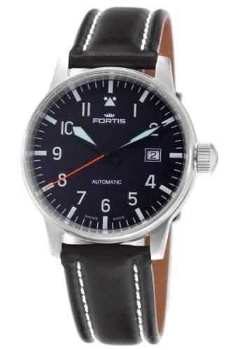 Fortis Herren 5951141L Flieger Automatic Black Dial Uhr